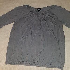 Mossimo grey 3/4 sleeve shirt